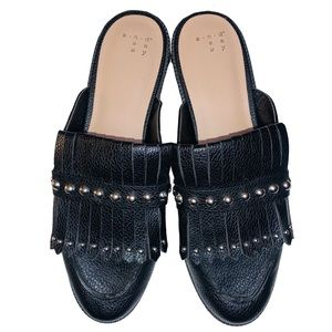 A New Day Karoline slip-on fringe loafer mule 8